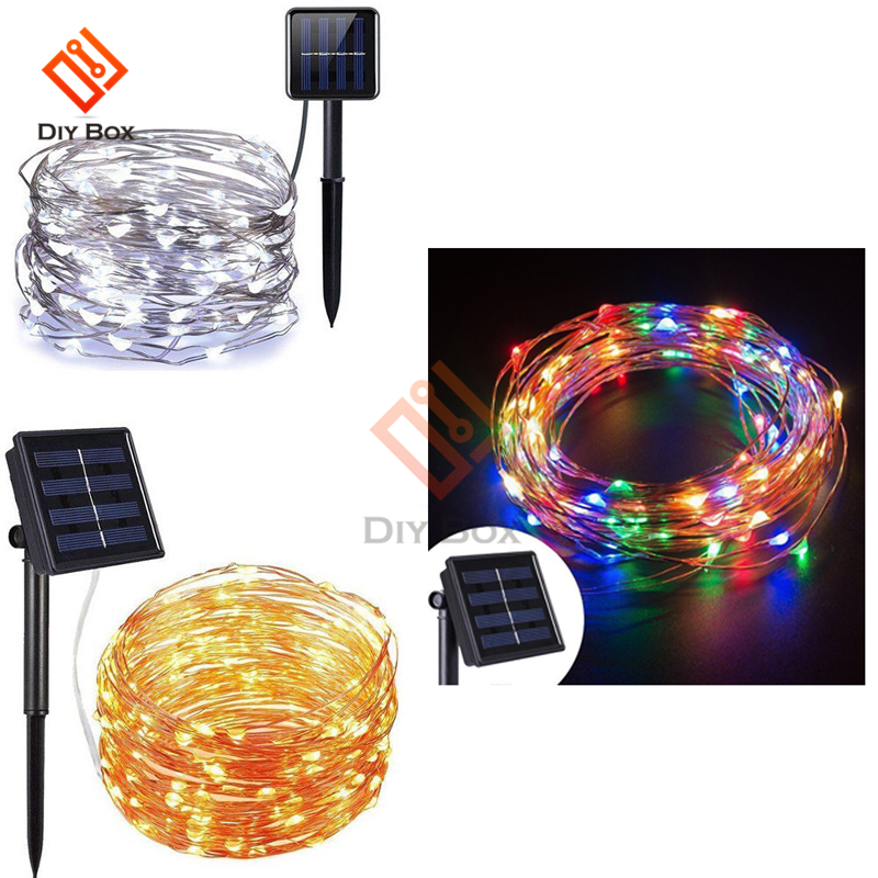 Outdoor Deco LED Solar String Light Lamps 12m 39Ft 100LED Holiday Christmas Party Wedding Garlands Solar Garden Waterproof Light