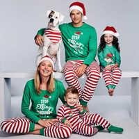 Family Pajamas Set Xmas Party Clothes Adult Kids Pajamas set Cotton Baby Romper Sleepwear Christmas Family Matching Clothes