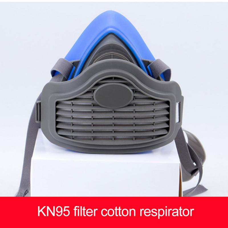 Gas Mask Chemical Anti Dust Paint Industrial Respirator Dual Filter Face Safety  KN95 PM2.5 Protection Mask Wholesale Dropship