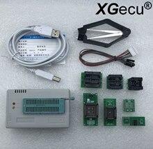 V10.27 XGecu TL866II Plus programator USB obsługa 15000 + IC + 7 sztuk Adapter SPI Flash NAND EEPROM MCU PIC AVR wymień TL866A