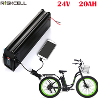 electric bicycle battery 24v 20ah ebike battery pack silver fish 24v 350w battery with USB charge port