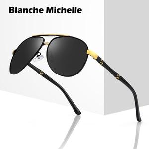 Image 1 - Hohe Qualität Legierung Pilot Sonnenbrille Männer polarisierte UV400 Sonnenbrille Herren Fahren Sonnenbrille Mann Sonnenbrille 2020 oculos Mit Box sunglasses men sun glasses man sunglass mens