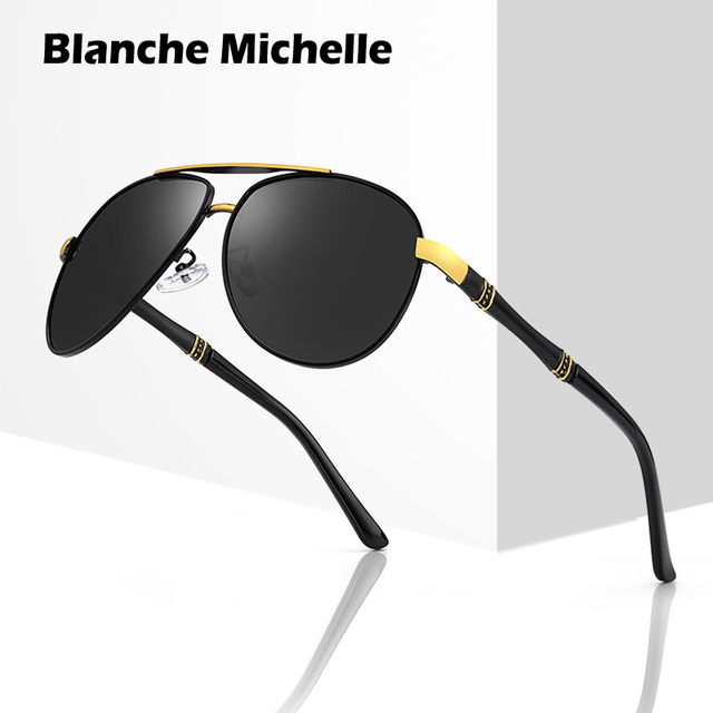 Hohe Qualität Legierung Pilot Sonnenbrille Männer polarisierte UV400 Sonnenbrille Herren Fahren Sonnenbrille Mann Sonnenbrille 2020 oculos Mit Box sunglasses men sun glasses man sunglass mens