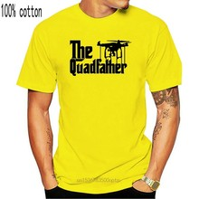 2018 New Mens T Shirts DJI The Quadfather Inspired Goodfather Movie - Custom Men Black T-Shirt Tee 100% Cotton Brand New