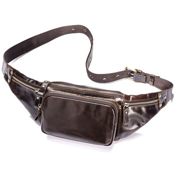 Men Genuine Leather Belt Bag Male Real Leather Waist Bags Large Hip Travel Waist Packs Large Fanny Pack for Men Phone Pouch Bag aimeison genuine leather waist bag men waist pack waist bag funny pack belt bag men chain waist bag for phone pouch