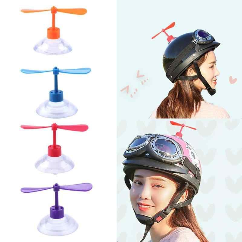 เด็กใหม่เด็ก Gags ของเล่นพัดลมรถเข็นเด็กทารกดูดถ้วยใบพัดเด็กสนุกกลางแจ้ง Novelty Helmet ดูดของเล่นใบพัด
