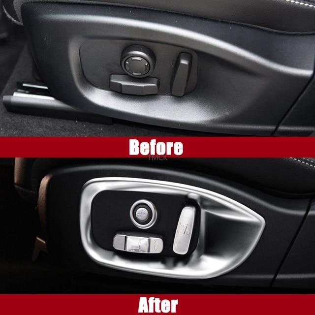 Car Accessories Seat Adjustment Button Frame Trim Decorative Cover Stickers For Jaguar F-Pace f pace X761 XE X760 XF/XFL X260 6