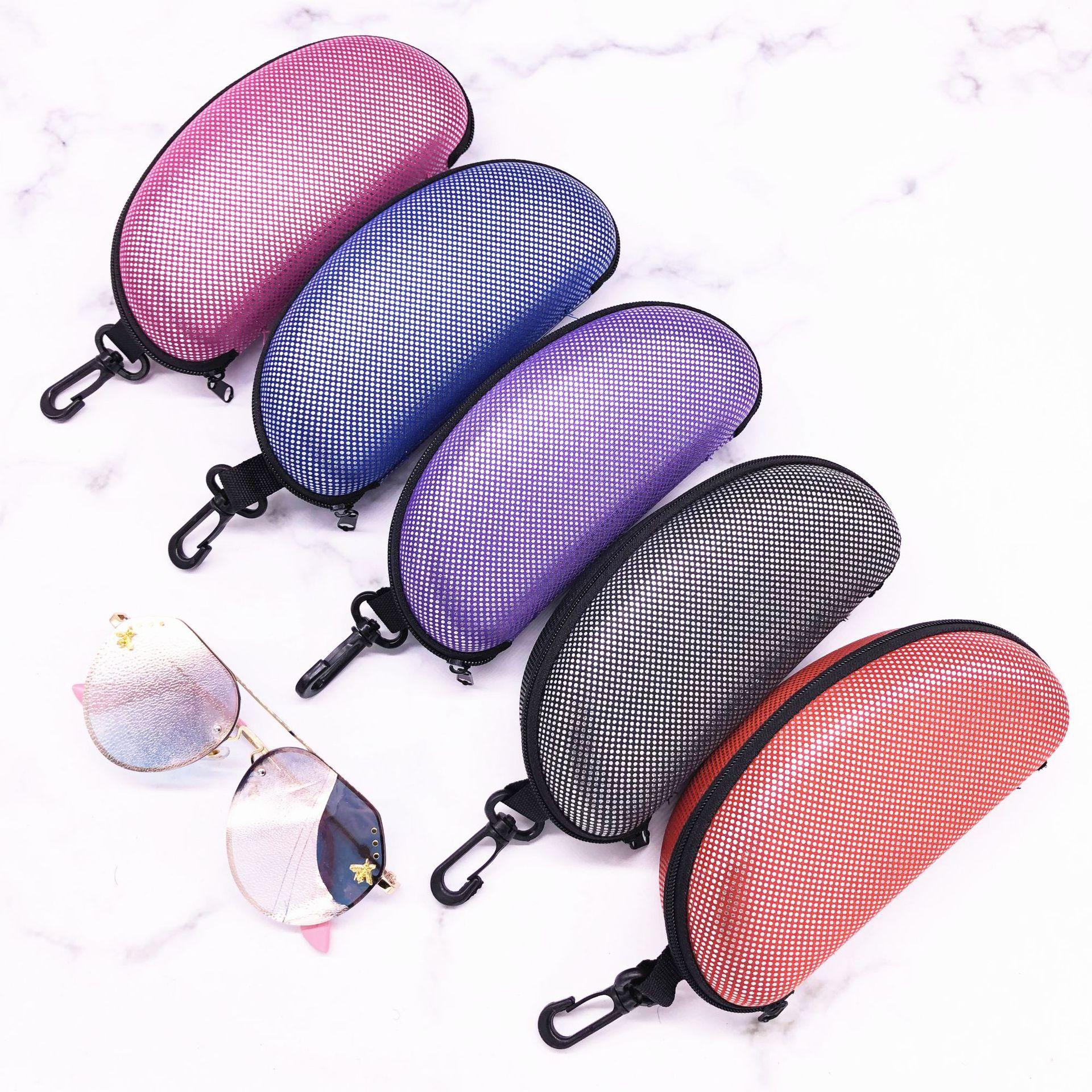 Vikenner Cute Car Shape Hard Zipper Glasses Case Box Nylon Eye Glasses Sunglasses Carry Bag Travel Eyewear Protector for Baby and Toddler Green