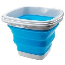 دلو سيليكون بلاستيكي قابل للطي ، 10 لتر ، 5 لتر ، لغسيل السيارات وتنظيف الصيد ، دلو ماء قابل للطي ، ملحقات العناية