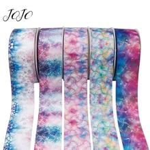 JOJO BOWS 75mm 2y Grosgrain Ribbon Gradual Color Bronzing Laser Dots Wedding Birthday Party Decoration DIY Handmade Hair Bows