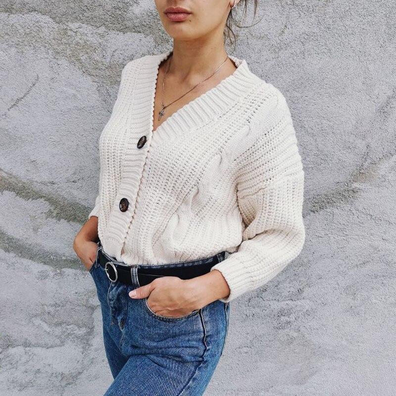 Vrouwen-Korte-Vest-Gebreide-Trui-Herfst-Winter-Lange-Mouwen-V-hals-Jumper-Vesten-Casual-Streetwear-Mode