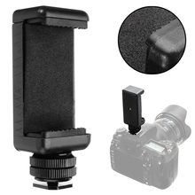High Quality 1/4″ Phone Clip Holder + Black Hot Shoe Adapter Mount for DSLR Camera 58 to 88mm Cell Phone
