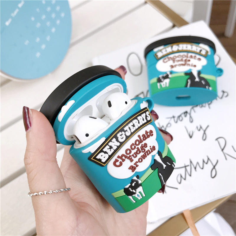 Hot Fun Ice Cream Cup Silicone Earphone Protective Bluetooth for Airpods 1 2 pro Personalized Wireless Headphone Case|Earphone Accessories|   - AliExpress