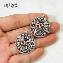 5 pieces Skull pendants golst necklace pendants retro jewelry flowes accessories pendants beads 50028