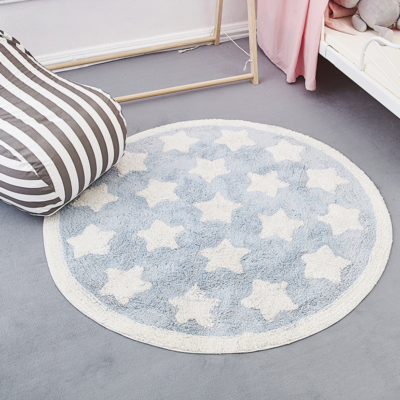 Baby Activity Gym Developing Mat Crawling Activity Rug Room Toddler Decoration Star Velvet Carpet YZL027