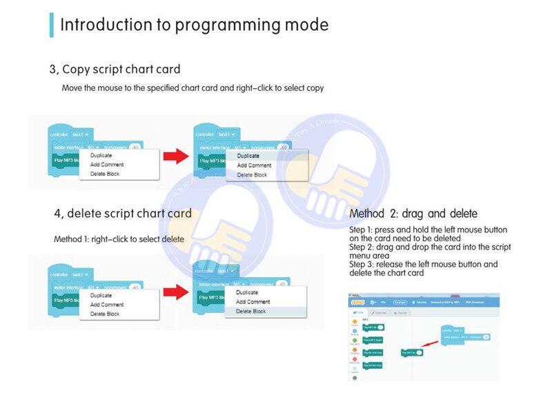 bloco de construção robô programação criativa programa