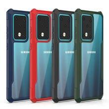 100 pz/lotto per Samsung Galaxy A51 A71 custodia in acrilico HD Anti Shock armatura custodia posteriore per Galaxy S20 Ultra S20 Plus