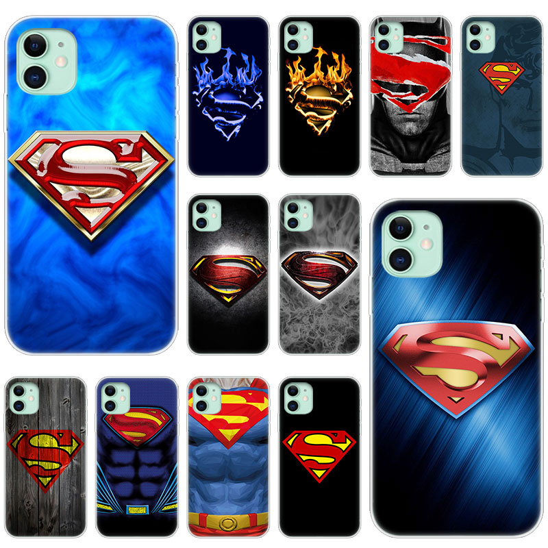Hot Superman Logo Soft Silicone Transparent Case For Apple Iphone 11 Pro Xs Max X Xr 6 6s 7 8 Plus 5 5s Se Fashion Cover Fitted Cases Aliexpress