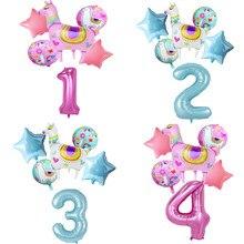Desenhos animados animal alpaca folha de alumínio balão conjunto dos desenhos animados animais llama balões decoração aniversário favores do casamento presentes balões