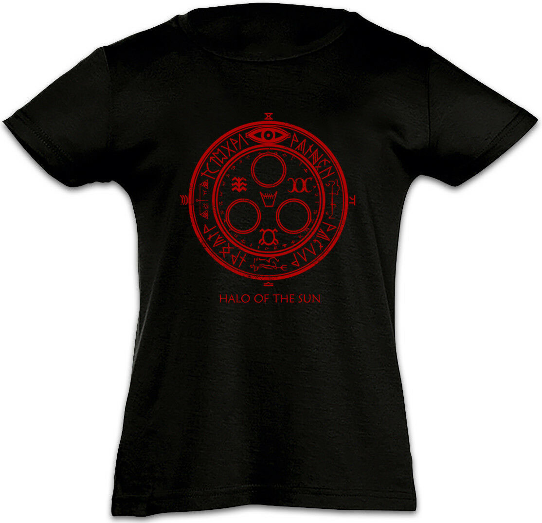 HALO OF THE SUN LOGO Mens Girls T-Shirt Silent Hill Game Satanic Circle 666 vintage O Neck Tee Shirt image