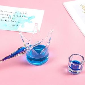Image 4 - الإبداعية Dip حامل قلم ديكور على شكل زجاج حامل قلم منظم مكتب