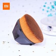 Xiaomi brocha de maquillaje suave y amigable con la piel, portátil, gran tamaño, ahorro de base, brocha cosmética con estuche de transporte