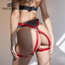 Garter Lingerie Leg-Harness Bondage Sexy Woman Belt Strap-Toy Red-Buttocks Body Thigh