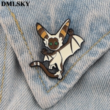 DMLSKY Cartoon The Last Airbender Enamel Pins and Brooches Women Men Lapel Pin Backpack Badge Tie Hat Jewelry M3750