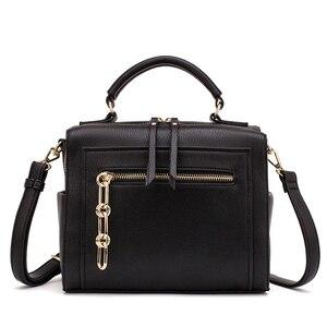 Image 1 - MIYACO Women Leather Handbag Black Shoulder Bags Crossbody Bags Female Messenger Bag Casual Ladies Hand Bags 2019