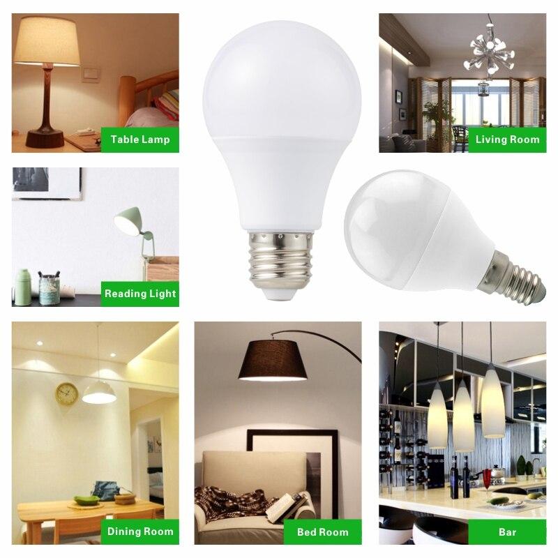 4PCS LED Lamp Light Bulbs E27 E14 3W 9W 12W 15W 18W 24W 220V LED Bulb High Brightness Lampada For Home Bombillas Warm Cold White 6