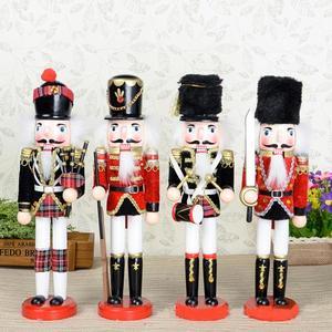 S 30cm mobile marionnettes exquis exécution casse-noisette, peint à la main noyer enfants cadeau de noël 4 pièces/lot