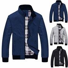 Мужчины% 27 куртки осень зима повседневная молния чистый цвет кашемир утолщение куртка +мужчины одежда +мода куртка мужчины