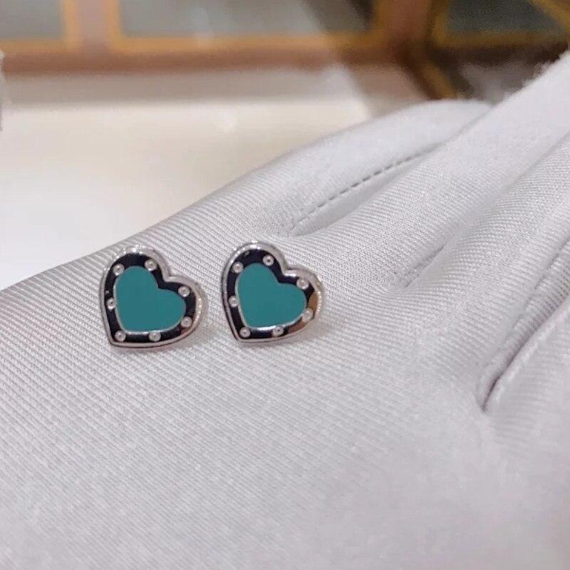 Plata de Ley 925 clásico popular original de moda en forma de corazón de tres piezas collar de mujer joyería - 3