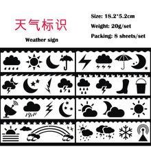 Кабельный тестер кабеля 8 шт погода знак Трафареты ребенка картина