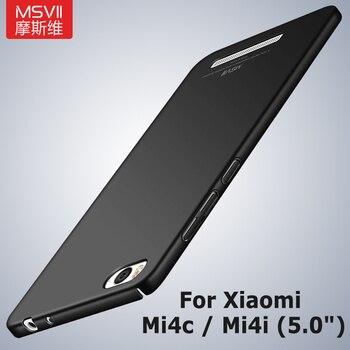 Funda Mi4C Msvii Slim fundas mate para Xiaomi Mi4i Mi 4i Mi4 C funda Xiomi Xaomi Mi 4C PC funda para Xiaomi Mi 4 Mi4 M4 fundas
