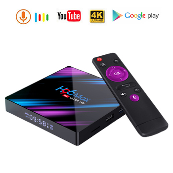 Smart H96MAX RK3318 Set-top Box Android 9.0 4G 32G 64GB 4k Wifi   HD Media Player Tvbox Support Netflix Youtube Google Assistant