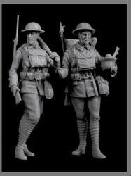 1/35 antigo wwi conjunto britânico (2 figuras) resina figura modelo kits miniatura gk unassembly sem pintura