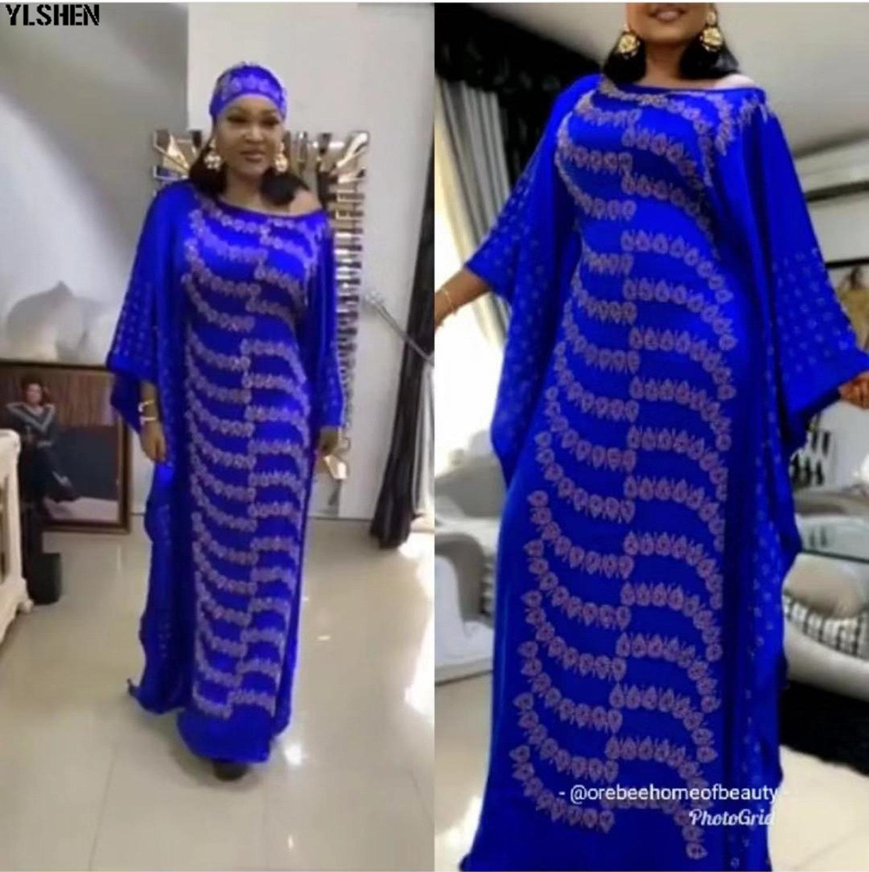 Long African Dresses For Women Dashiki African Clothes Abaya Dubai Hijab Muslim Dress Kaftan High Quality African Dress For Lady