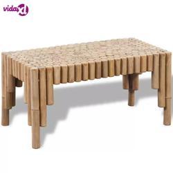 VidaXL бамбуковый журнальный столик, превосходное сопротивление погодным условиям и прочный материал, журнальный столик, легко моется