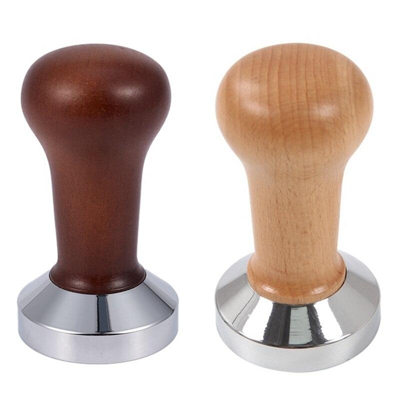Cà Phê Tam Giác Tay Cầm Bằng Gỗ Barista Espresso Máy Xay 51Mm Cà Phê Và Pha Cà Phê Bột Búa