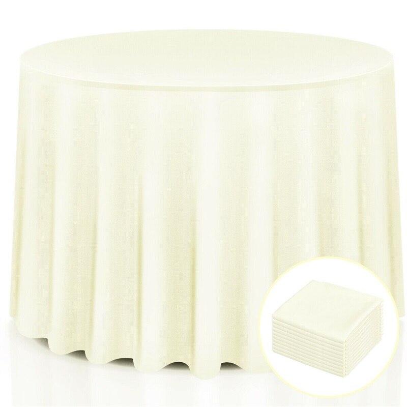 10 шт 90 Домашний Ресторан полиэстер круглая скатерть белый желтый скатерть HW56595