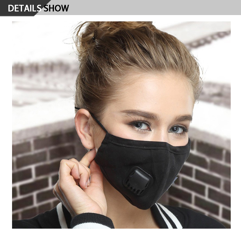 Image 2 - 2019 New Anti Dust Mask For Men Women PM2.5 Activated Carbon  Filter Mask Medical Anti Pollution Fabric Face MaskWomens Masks   -