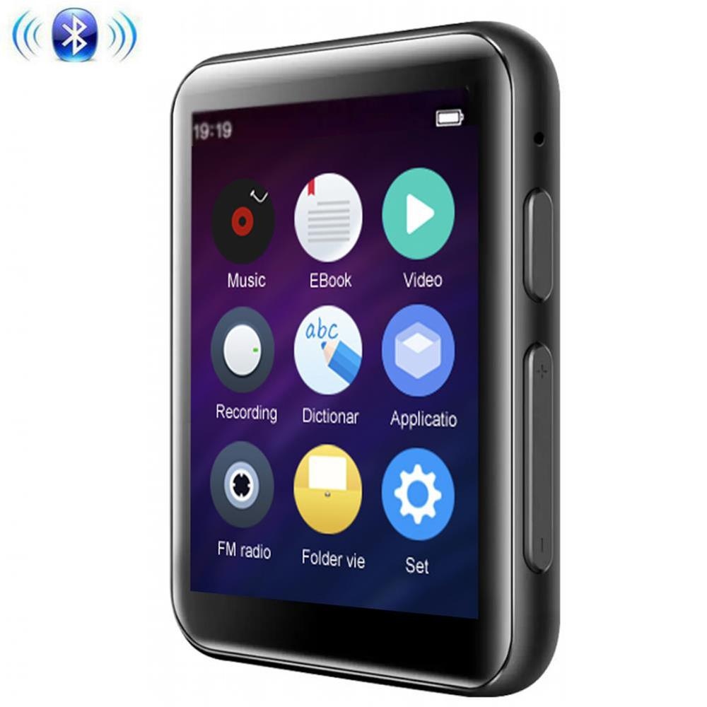 MP3 Player Bluetooth5.0 With 2.5 Inch Full Touch Screen 16GB Built-in Speaker Supports FM, Video,Expandable SD Card Up To 128GB