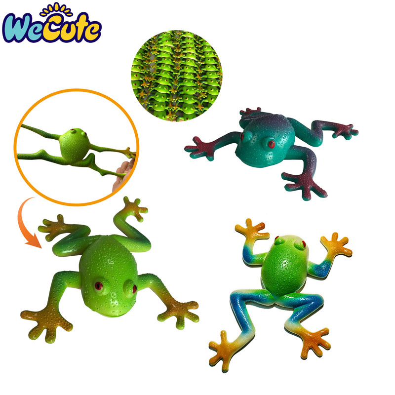 Kids Toys Novelty Funny Baby Toys Simulation Soft Stretchable Rubber Frog Model Toys Cartoon Squeezing Children Antistress Toys