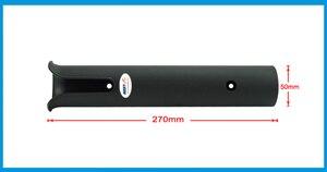Image 2 - 4X abs 黒プラスチック釣竿ポールホルダーポータブル釣竿紡績アクセサリー耐久性のあるチューブマウントブラケットソケットラック
