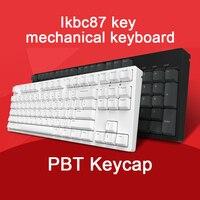 IkBC C87 Game Machine Keyboard Cherry Black Axis PBT Keycap Cherry Mx Silver Switch Brown Speed Non backlit Gaming Keyboard Keyboards     -