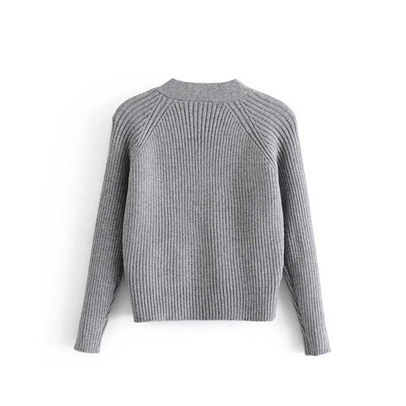 Moda cárdigan mujer suéter 2019 nuevas mujeres de punto cuello en V suéter Rebeca para mujeres y cárdigan mujeres ropa de manga larga