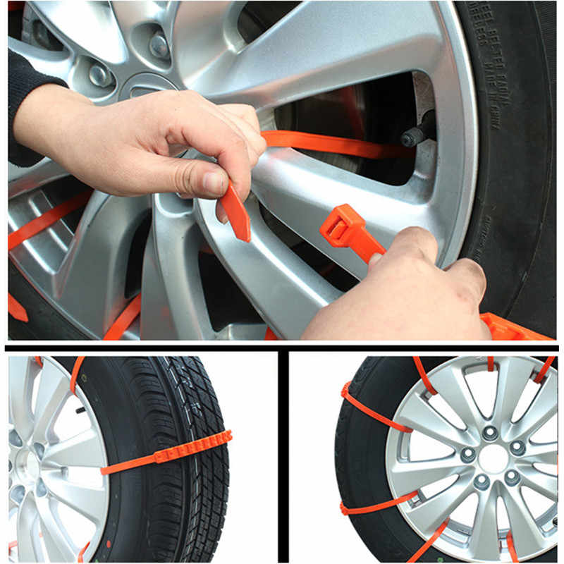 6pcs//lot Universal Cars Tyres Wheels Snow Chains Off Road Anti Skid Belt  #cz