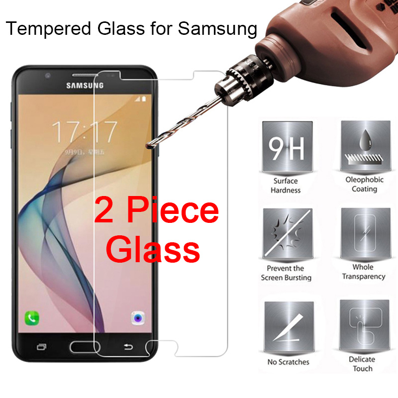 2PCS Screen Protector For Samsung Galaxy J5 2016 J510 Clear Film HD Tempered Glass Protective Glass For Samsung J7 2017 J3 Pro