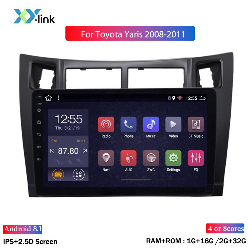 2G RAM 32G ROM Android 8,1 Auto DVD player 9 inch für toyota yaris 2008-2011 GPS navigation Mit Bluetooth/WIFI/USB